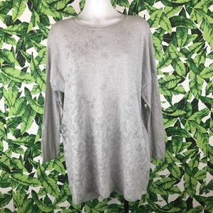 5 for $25 Why CI Gray Spotted Cashmere Sweater